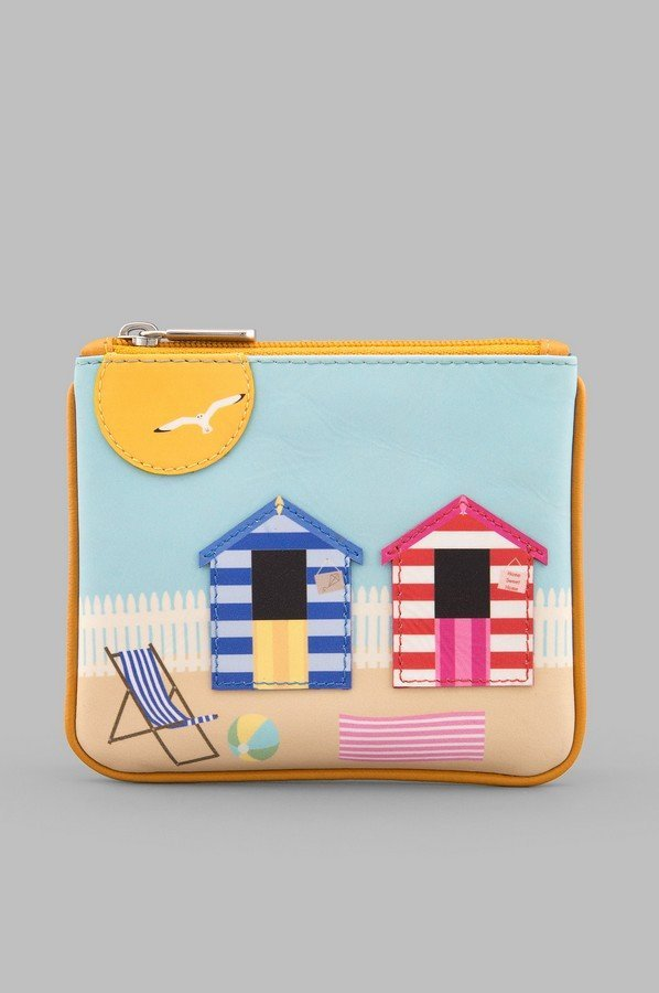 Y by Yoshi Beach Hut Zip Top Leather Purse