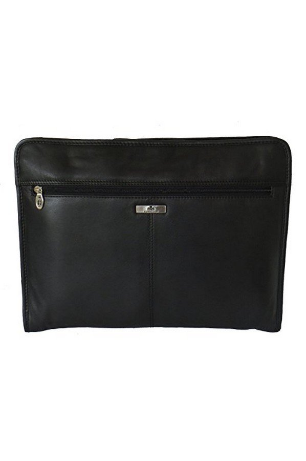 Rowallan Black Leather Underarm Portfolio Organiser