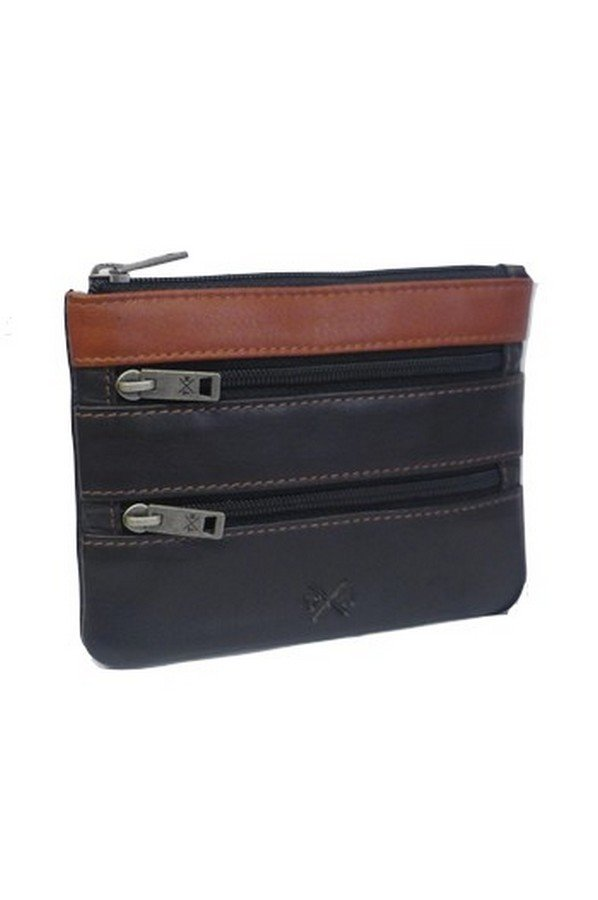 Tumble & Hide Newton Leather Triple Zip Purse RFID Protected