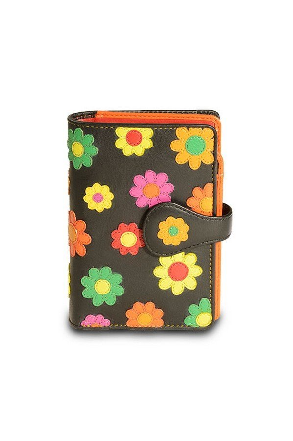 Visconti Spanish Leather Purse Daisy Collection