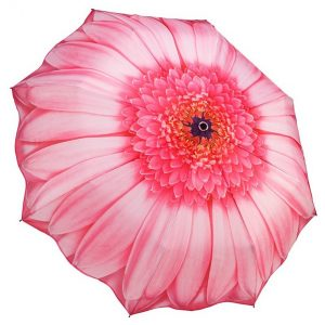 Pink Daisy Folding Style Umbrella From the Galleria Collection | GFFPID