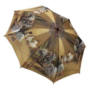 Degas Ballet Lesson Folding Style Umbrella From the Galleria Collection