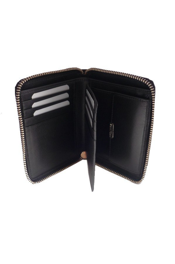c13527d9318 Gianni Conti Zip Around Leather Wallet with Coin Pocket • Bagcraft UK