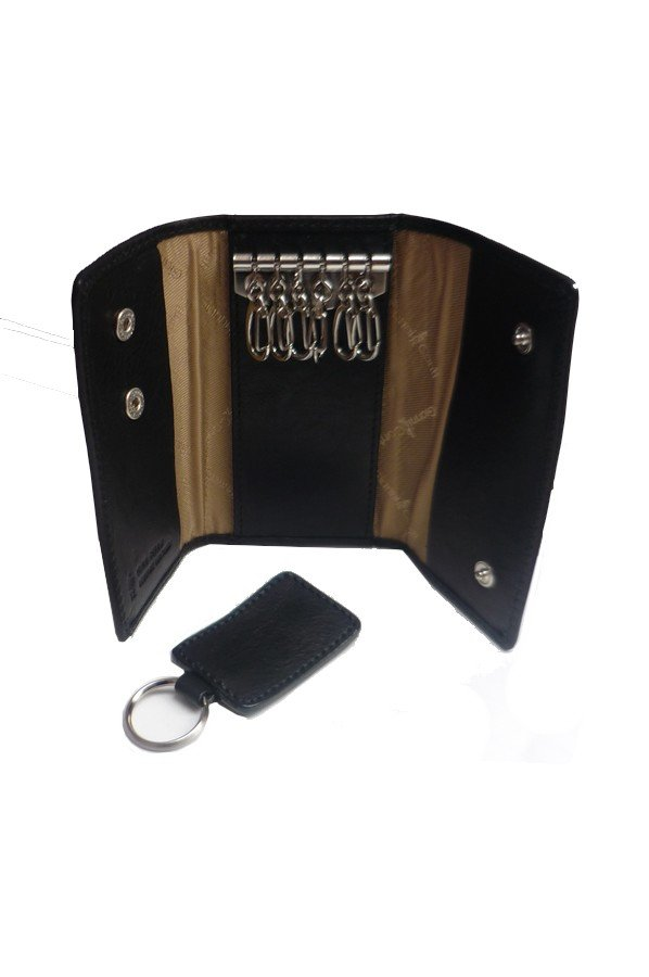 Gianni Conti Leather Key Case with Removable Keyring 919707