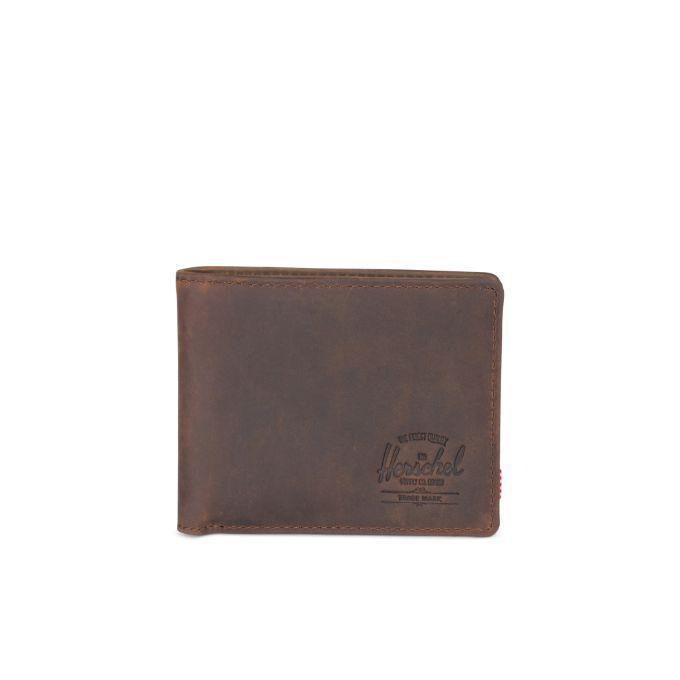 Herschel Supply Co. Hank Leather Wallet RFID Protected Brown Nubuck