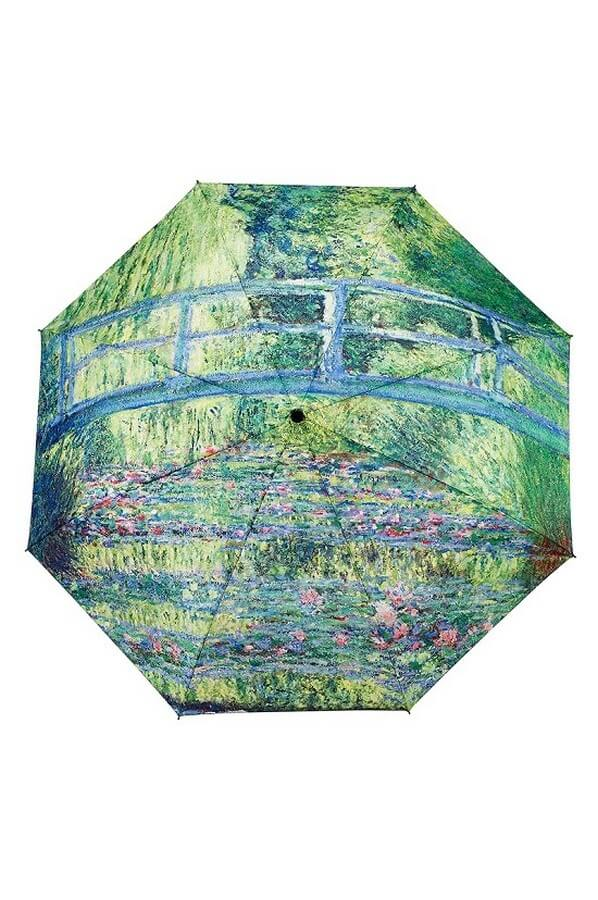 Monet Japanese Bridge Folding Style Umbrella From the Galleria Collection