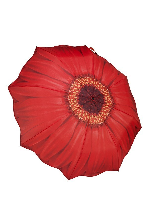 New Red Daisy Folding Style Umbrella From the Galleria Collection