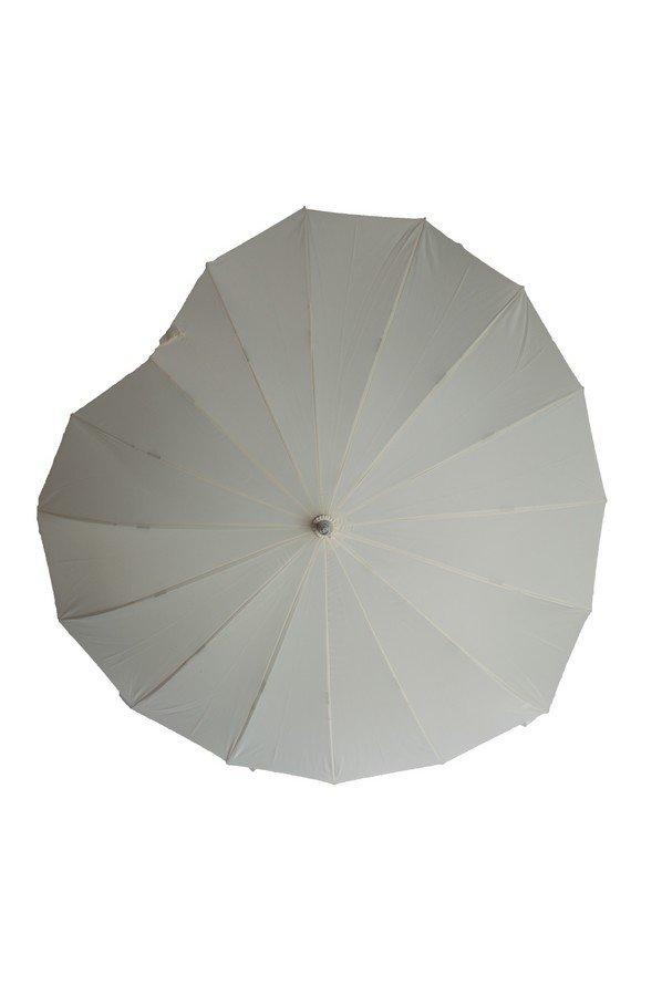 Heart Shaped Umbrella By Soake in Cream | BCSHCR