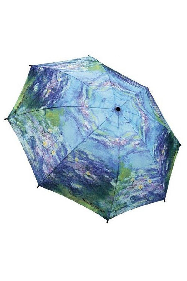"Monet's ""Water Lillies"" Art Folding Style Umbrella From the Galleria Collection"