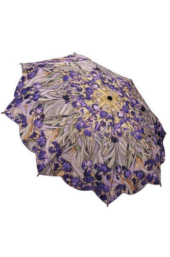 """Van Goghs """"Irises"""" Folding Style Umbrella From the Galleria Collection 