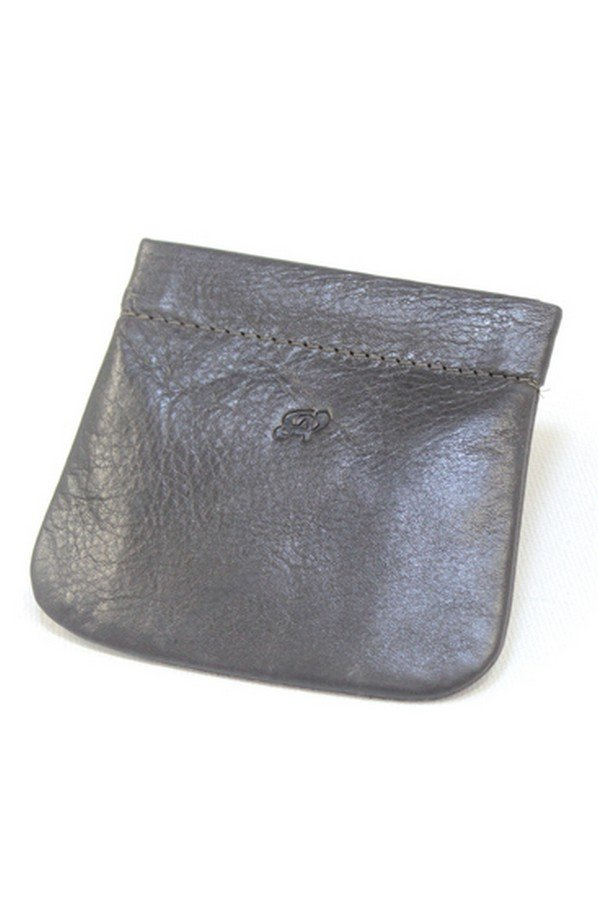 Simple leather snap shut Squeezy Purse 1860