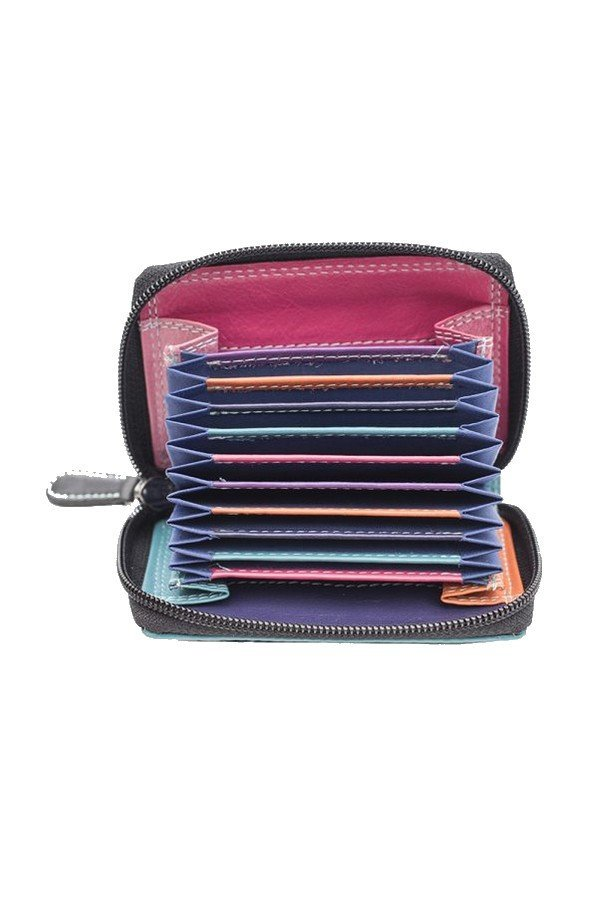 RFID Multi Colour Zipped Card Holder | 6091