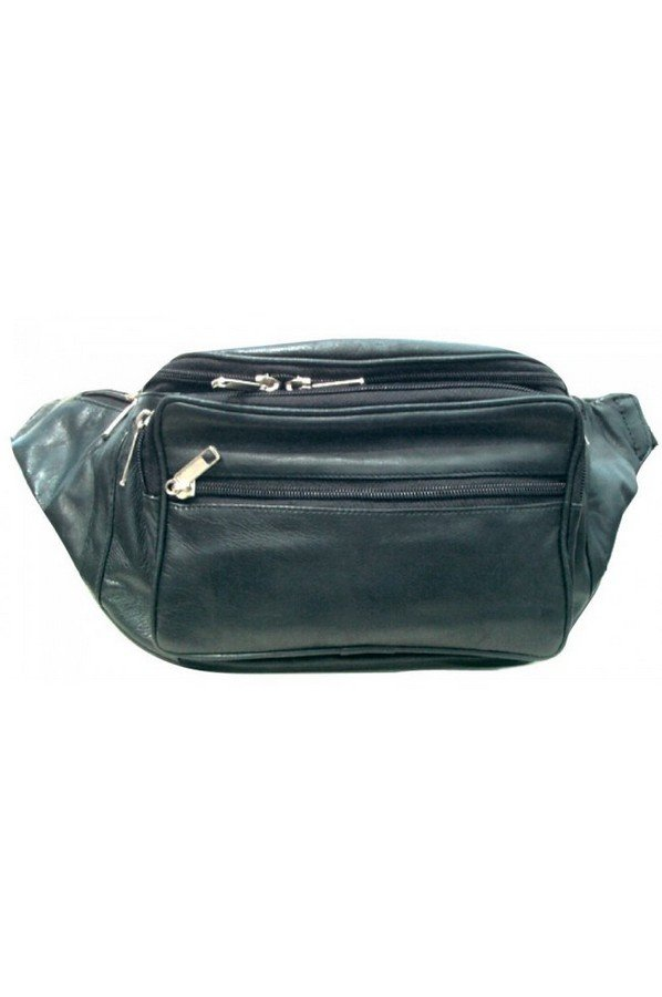 Multi Pocket Leather BumBag | 1050 | Black
