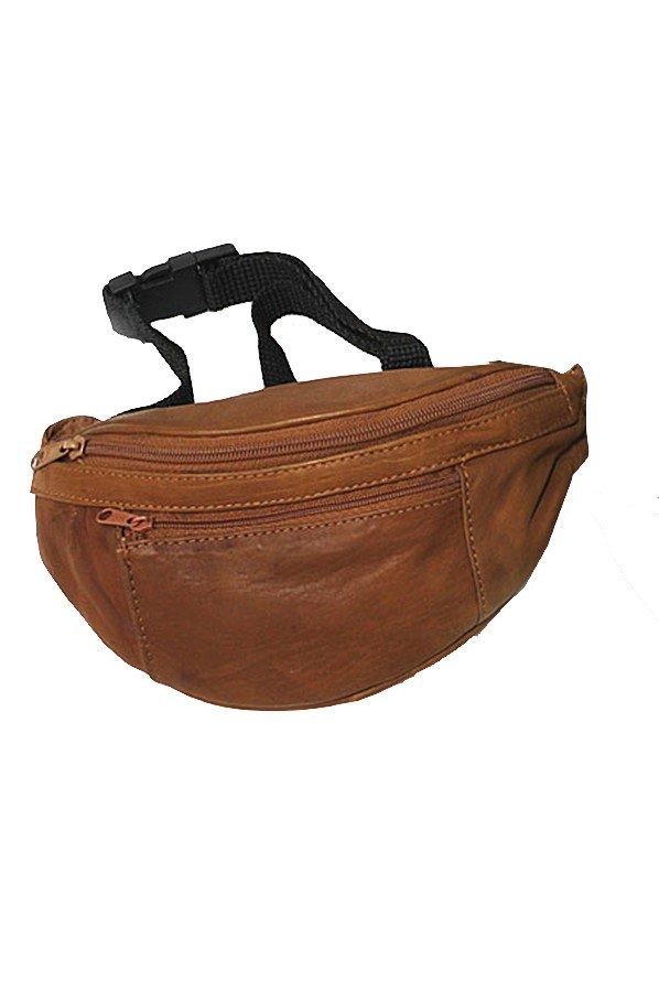 Soft Leather Waist Bag/Bumbag/Hip Bag Leather Tan
