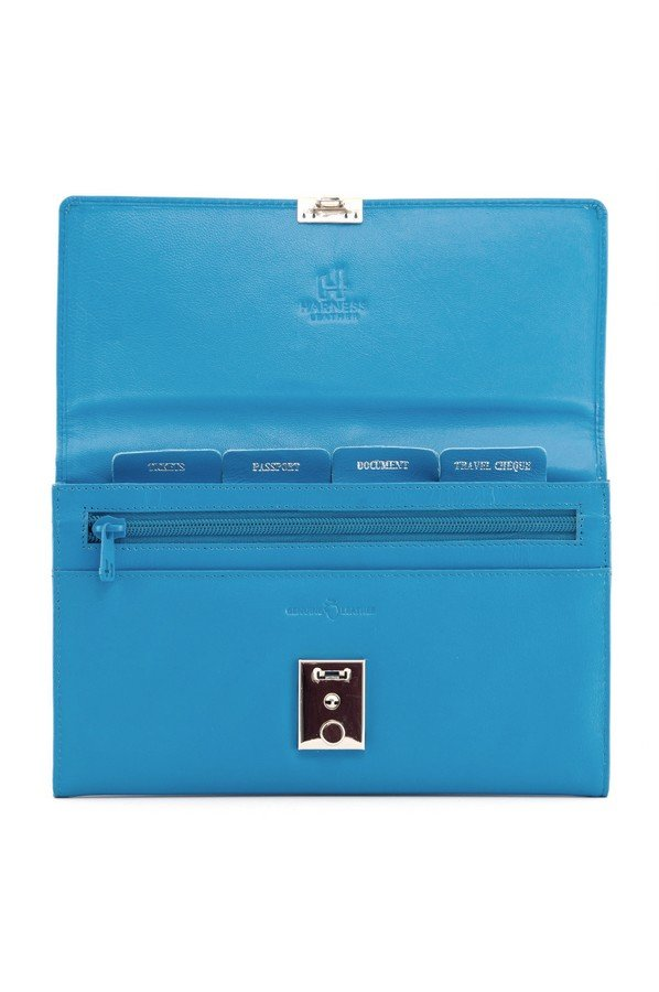 Leather Travel Document Holder With Lock Bagcraft Uk