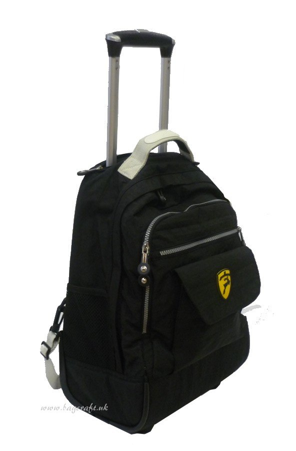 Gallops Small Backpack on Wheels in Black | 1505