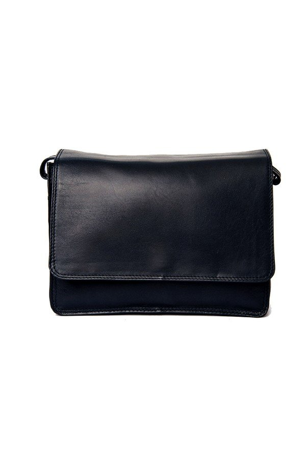 Nova Leathers Amelia Flapover Across Body Bag | 0768E | Black