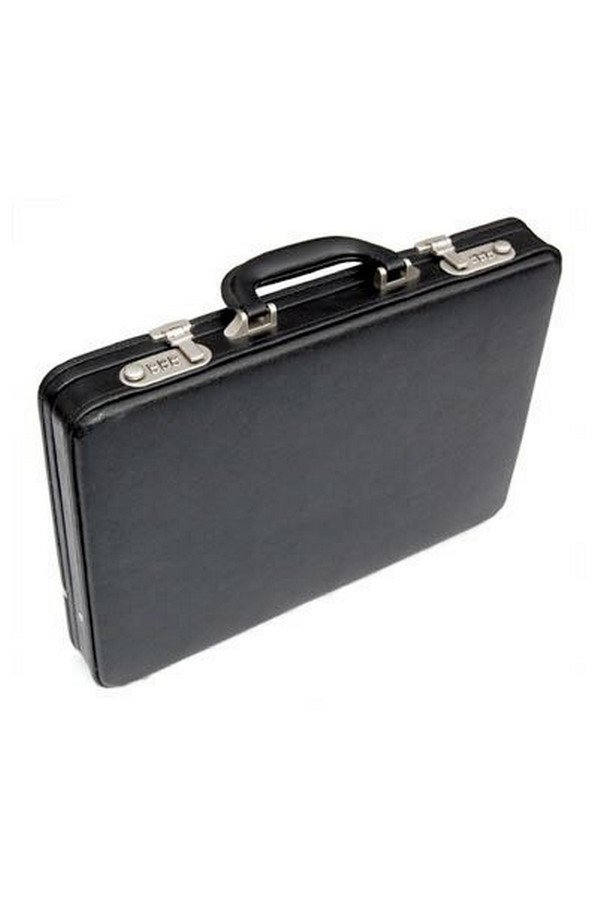 Tassia Black Slim Attache Case | 1414