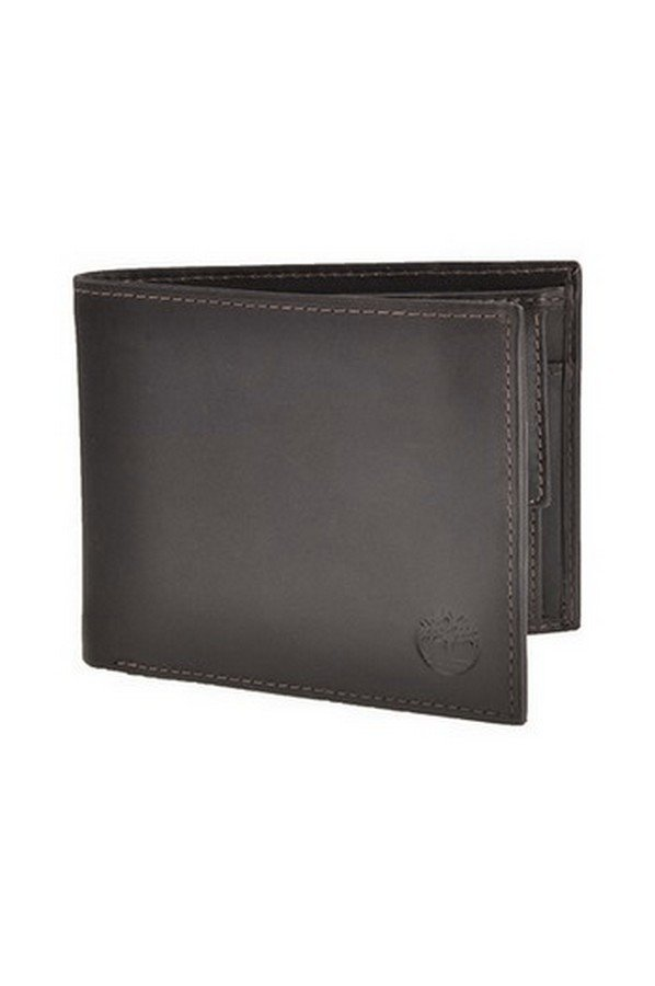 Timberland Leather Large Billfold Wallet with Coin Pocket