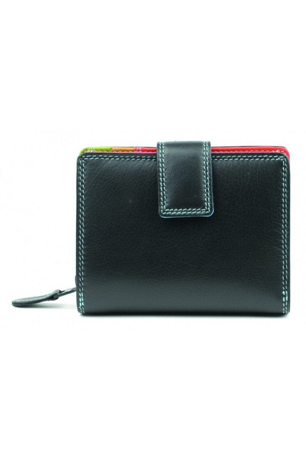 Golunski Caribbean Range Ladies Wallet Purse RFID Protected | 7-142 | Black Tropical
