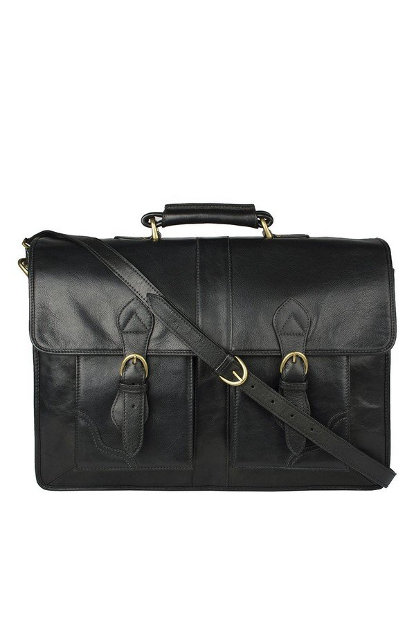 Hidesign Review Leather Briefcase