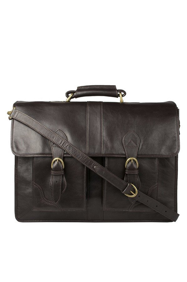 Hidesign Review Leather Briefcase | Brown