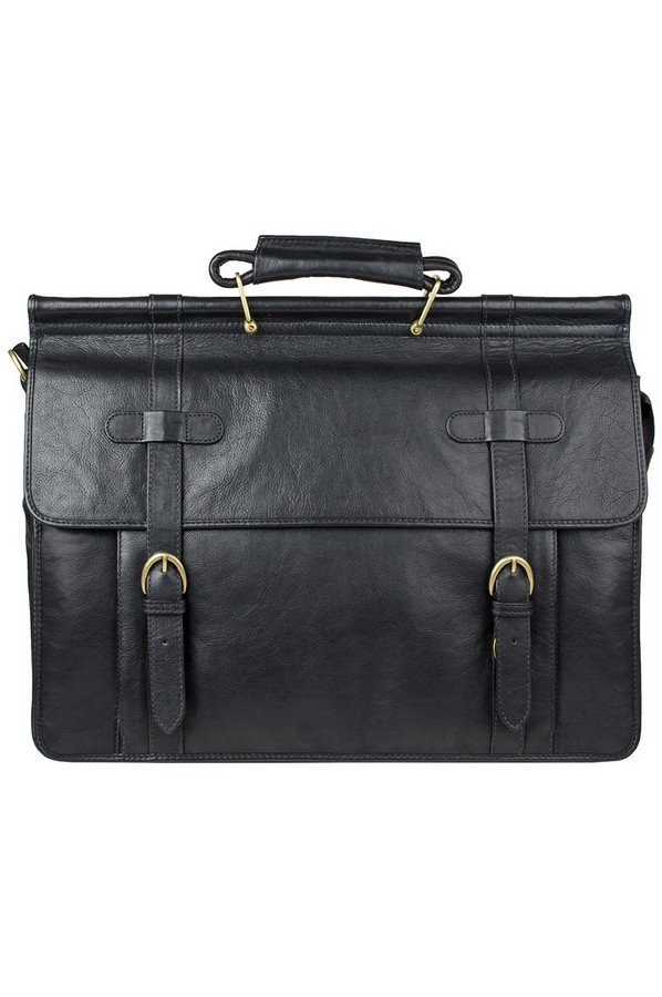 Hidesign Roma Leather Briefcase | Black