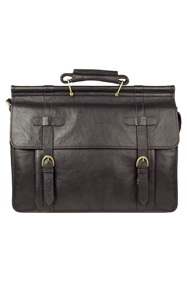Hidesign Roma Leather Briefcase | Brown