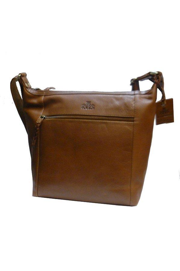 Rowallan Klon Zip Top Shoulder Bag 31 9846 Tan