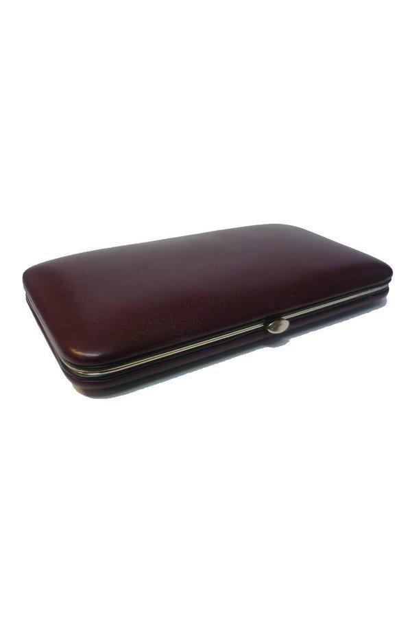 F.Hammann Manicure Set in Burgundy Leather