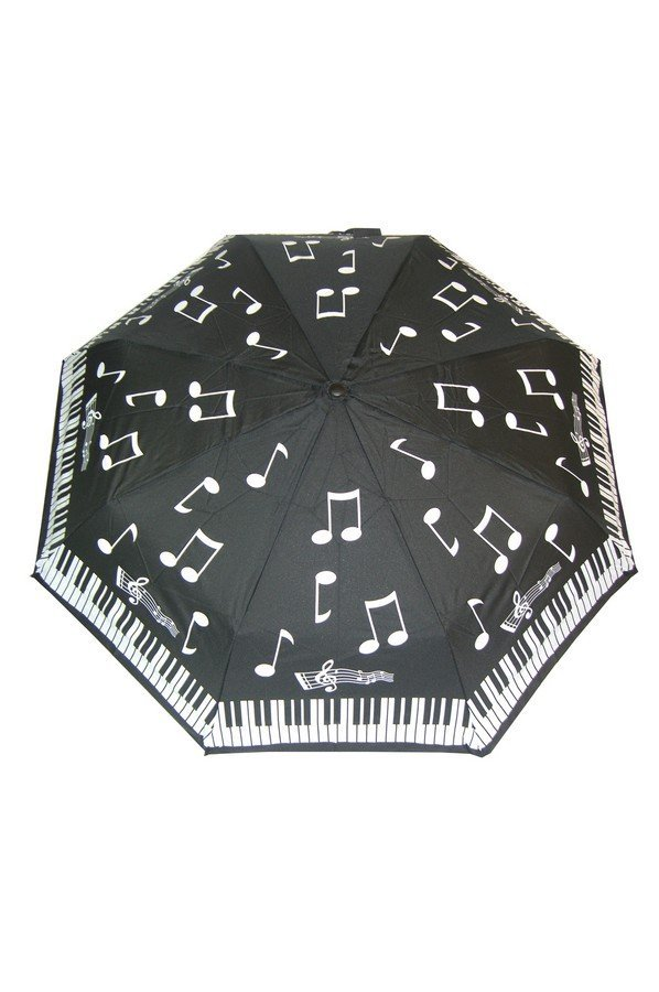 Soake Piano Notes Folding Umbrella