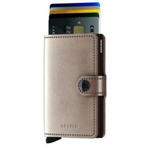 Secrid Miniwallet Metallic Champagne-Brown