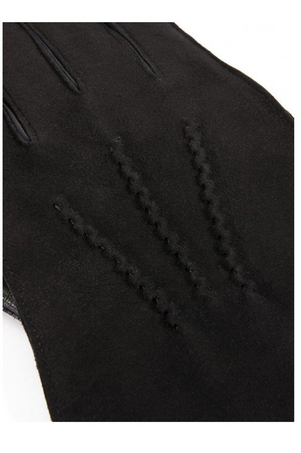 Dents Warwick Men's Cashmere Lined Suede and Leather Gloves