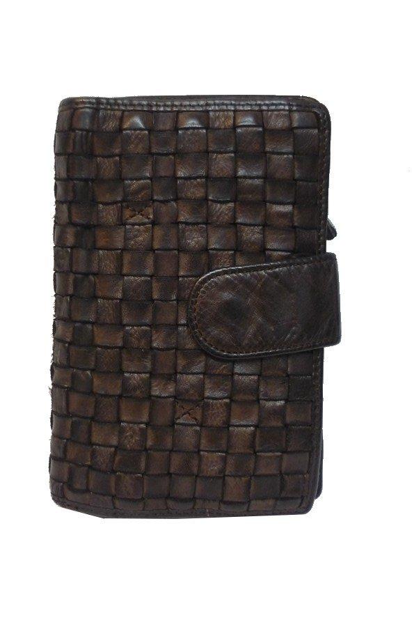 Gianni Conti Liana Braided Leather Purse   4508446